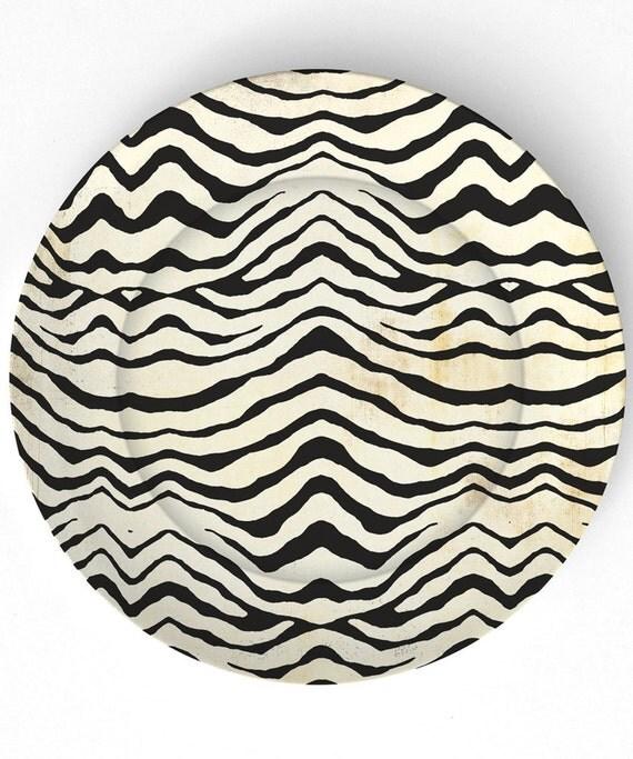 Listras da zebra - reproduzida em 10 polegadas Placa de Melamina
