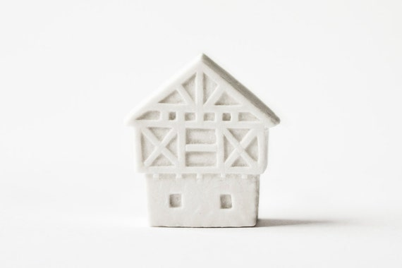 Germany Architecture - Ceramic clay house by Artisanie Europe - spring white modern chic decor wedding favors clay art