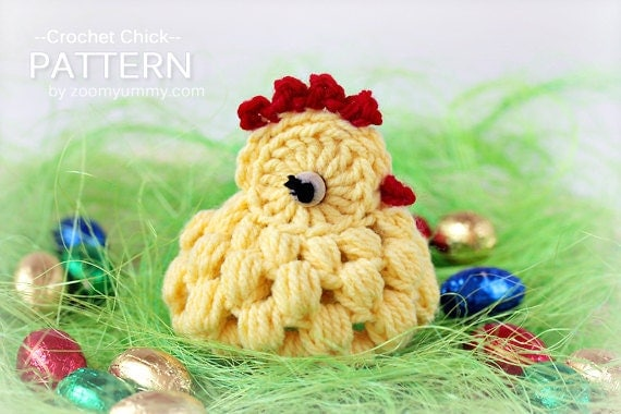 Crochet Pattern Crocheted Chick by Zoom Yummy Crochet