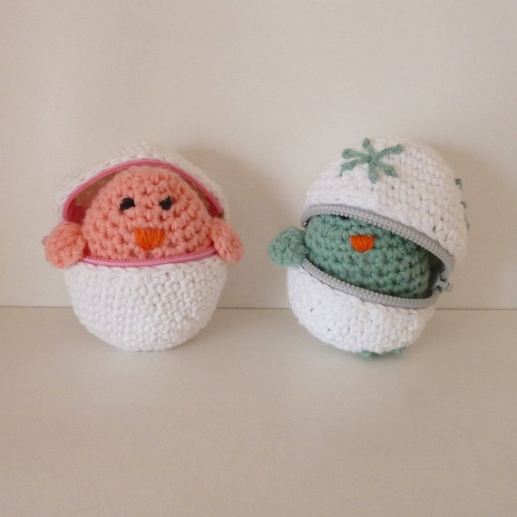 Easter eggs & baby chicks Crochet Amigurumi Pattern PDF ebook - original crochet tutorial with zipper eggs