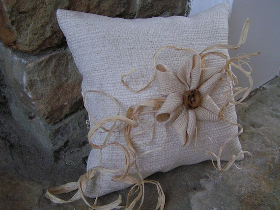 Rustic looking wedding pillow EllasCreativeGoods