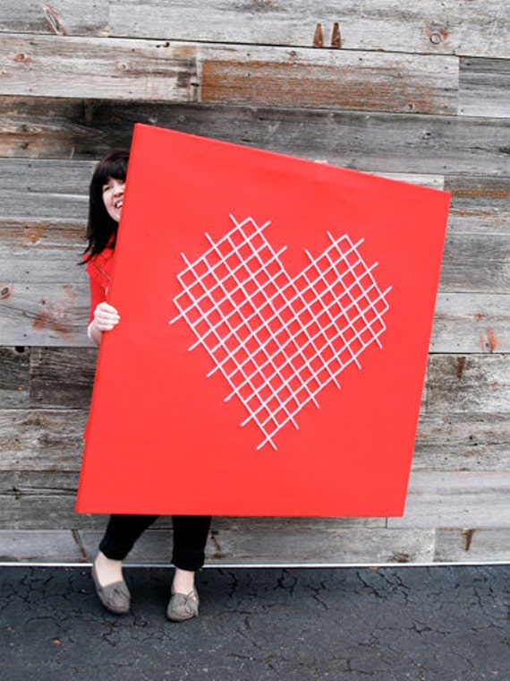 Giant Heart Cross-stitch