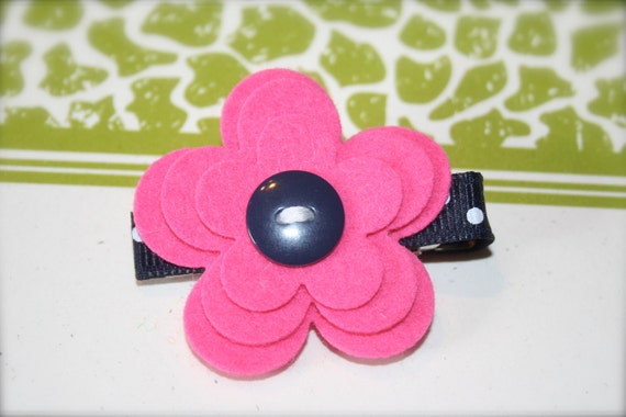 Felt Flower Hair Clips - Hair Accessories - Hair Clips - Hair Barrette - Flower Clips - No Slip Grip - Clip for Baby - Toddler Gift