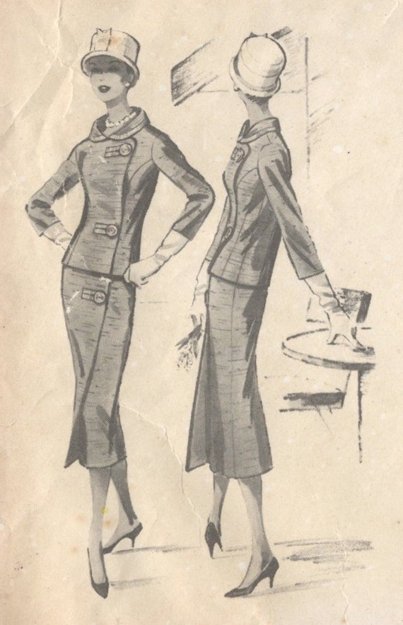 1950s McCall's 4005 illustration Givenchy 1957