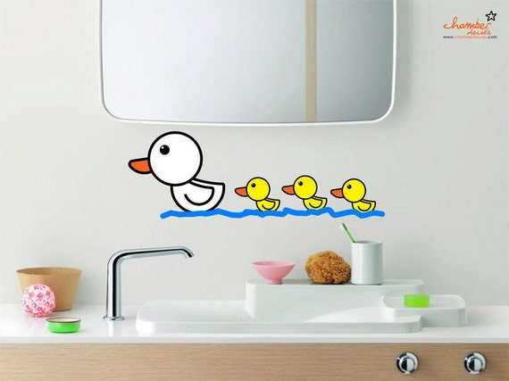 Cute Duck and Ducklings Wall Decal