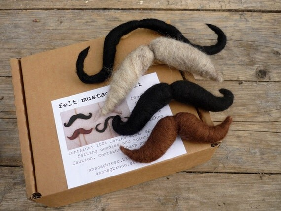 Needle Felt Mustache Kit