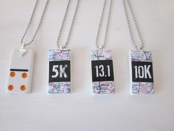 13.1 Necklace,  Domino Tile Necklace ETSY