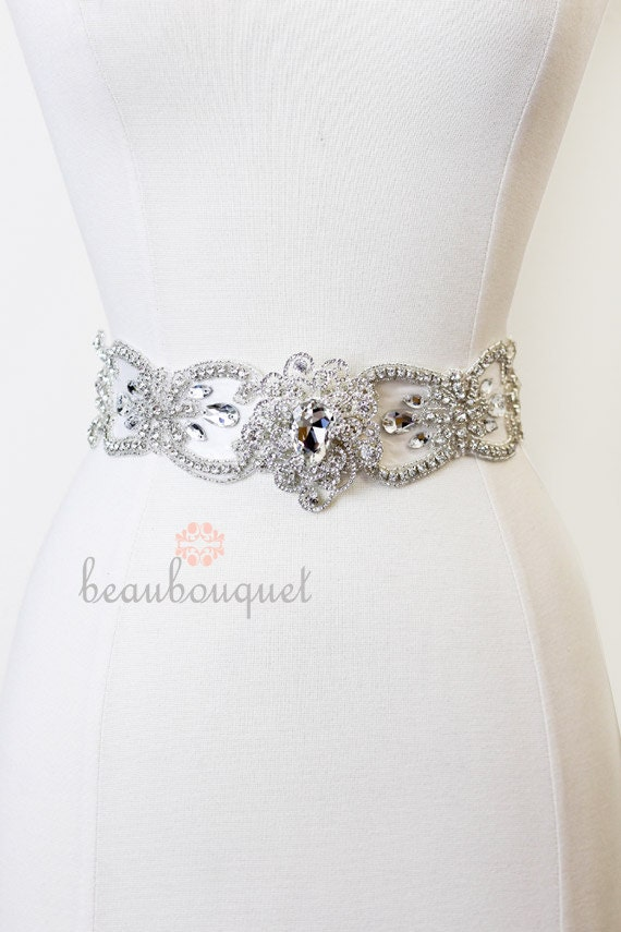 Bridal Sash MARIE Crystal Rhinestone Bridal Belt - ON SALE Deposit