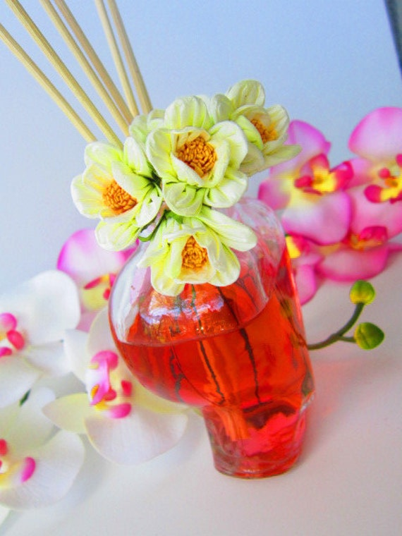 Rose Petal Diffuser Oil Set with Reeds