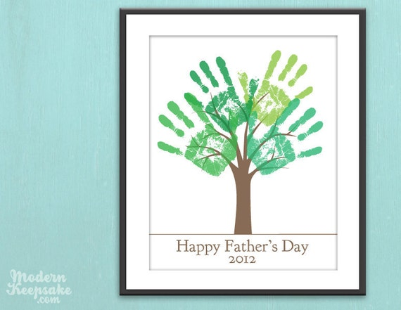 handprint tree fathers day
