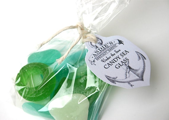 Hard Candy Sea Glass 3 oz. sample bag for gift giving, favors or cake decorating