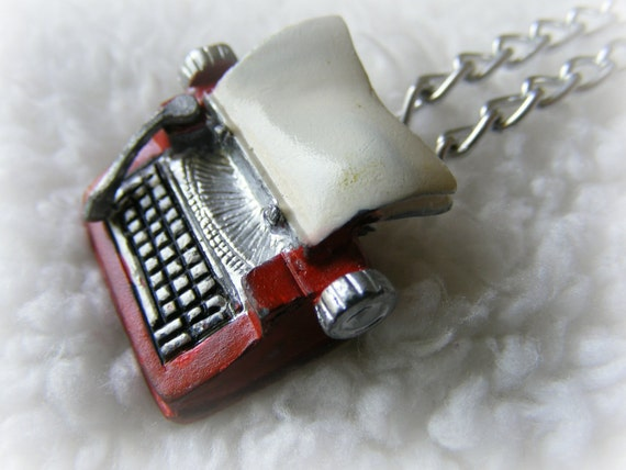 Necklace Typewriter Love