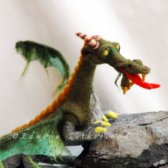 Dragon needle felted OOAK