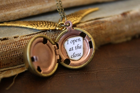 Harry Potter Golden Snitch Necklace - I Open At The Close - You Choose the Snitch