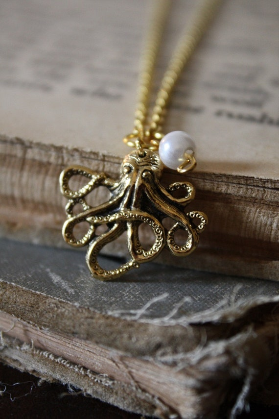 Mermaid's Octopus Necklace - Gold
