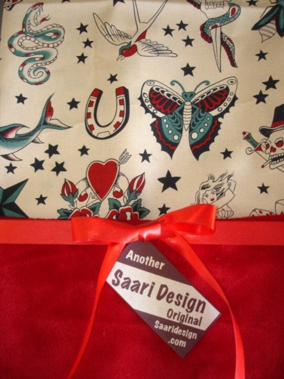 tattoo rockabilly punk boutique baby blanket From saaridesign