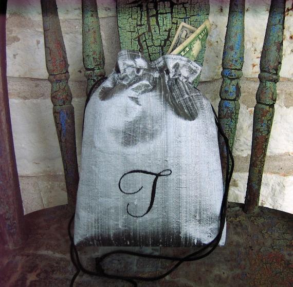 Bridal Drawstring Money Bag Silk Dupioni Custom