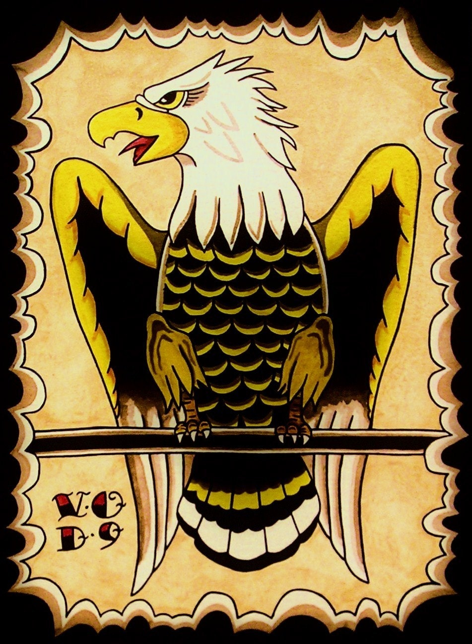Traditional Tattoo Eagle