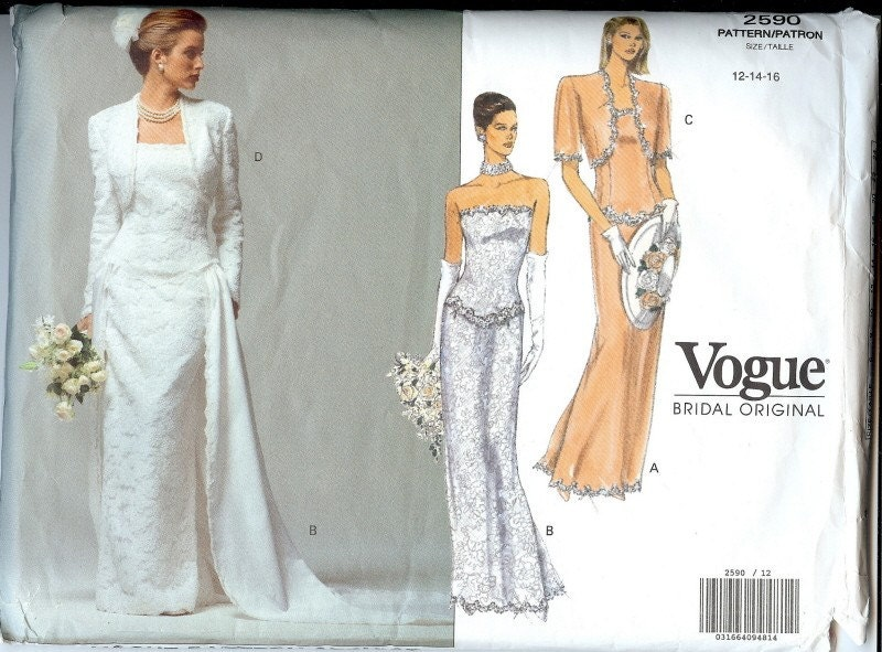 Wedding Dress Pattern From TokulVintage