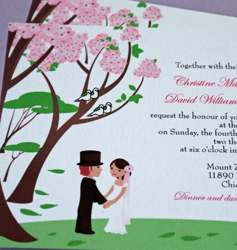 Love in the Enchanted Forest Wedding Invitation Sample