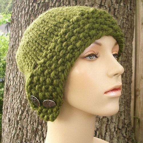 Chunky Knit Hat Pattern Free : CHUNKY HAT KNITTING PATTERNS   Free Patterns