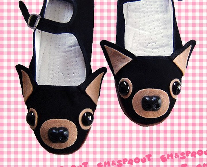 Chihuahua Shoes - Dog Mary Janes - Adult Size 8
