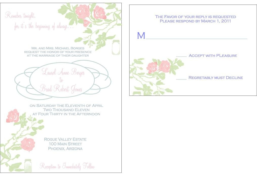 rose wedding invitations teal silver