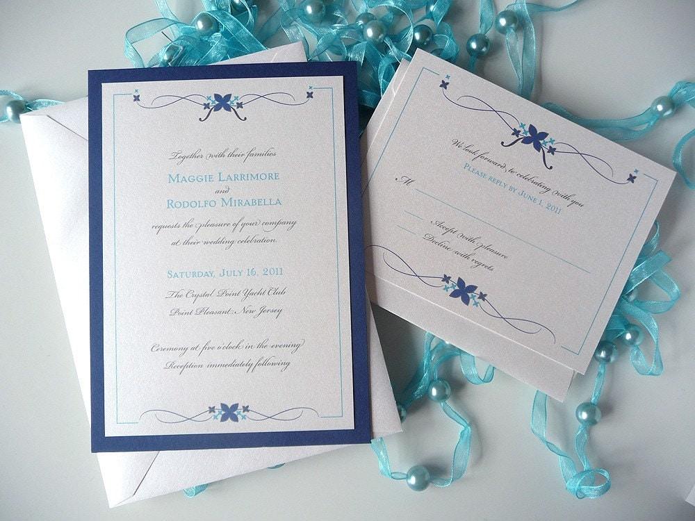 Simple Flourish Wedding Invitation From PrettyStationeryShop