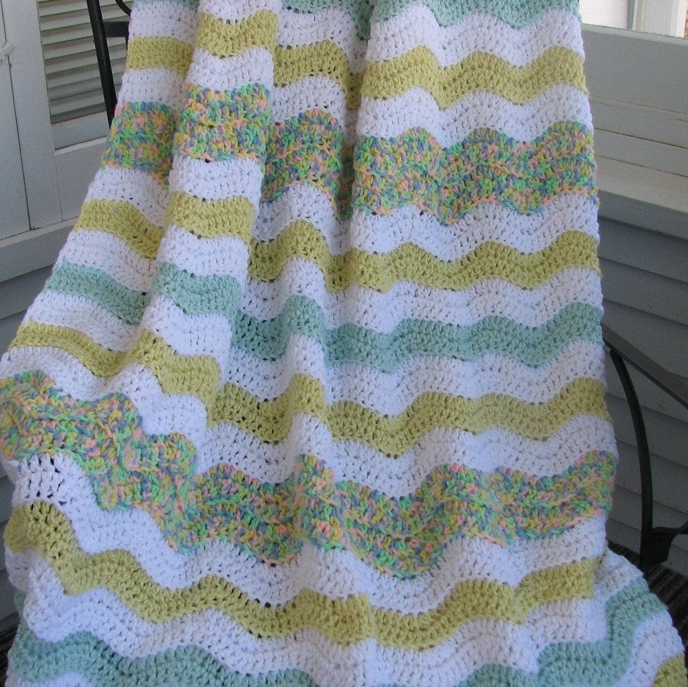 Simple Easy Beginner Crochet Patterns : CROCHETED RIPPLE AFGHAN ? Crochet For Beginners