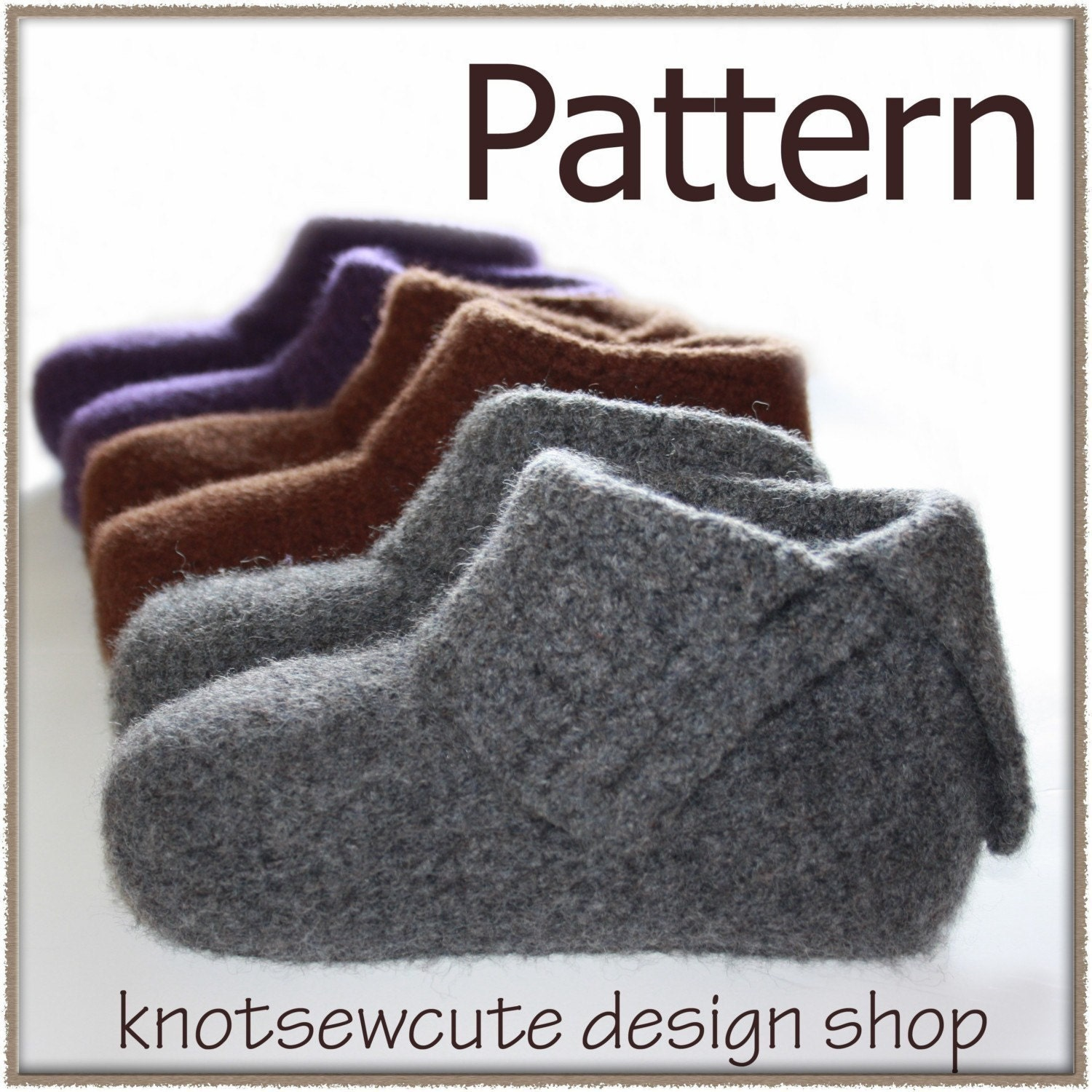 30+ Free Slipper Patterns: {Knit, Crochet, Sewing} : TipNut.com