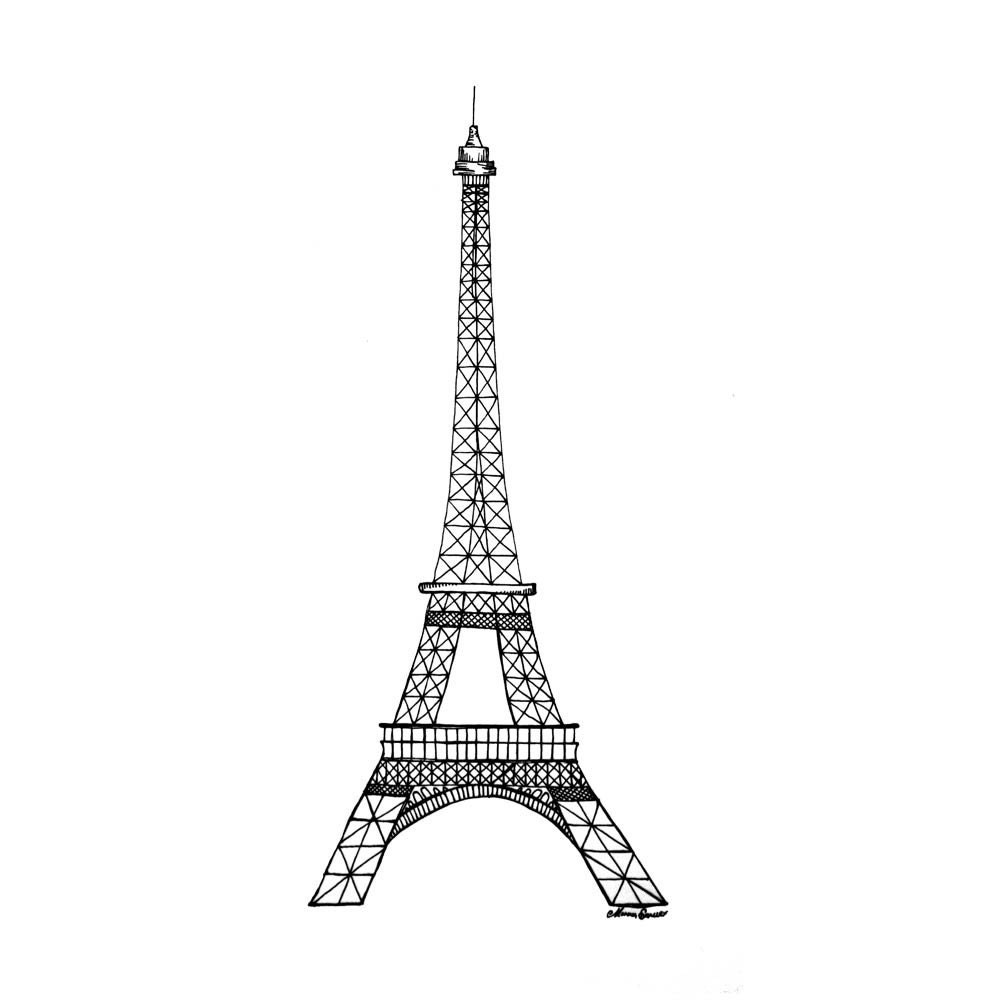 Line Drawing Eiffel Tower : Pinterest the world s catalog of ideas