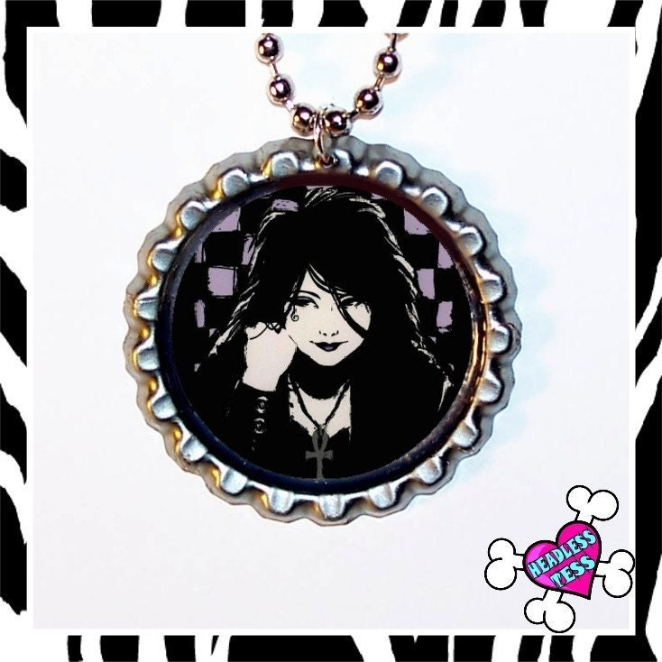 Death Sandman Comic Pendant Free Ball Chain with Purchase