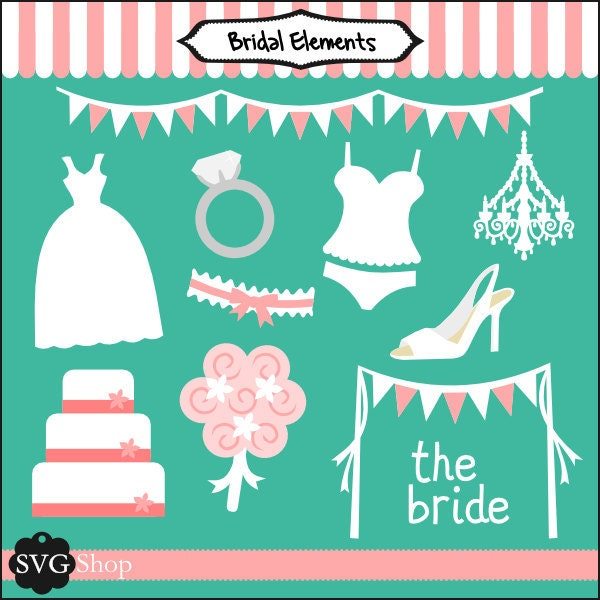 Bridal Elements SVG Set