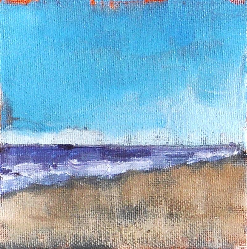Ocean Beach, San Diego, California landscape painting