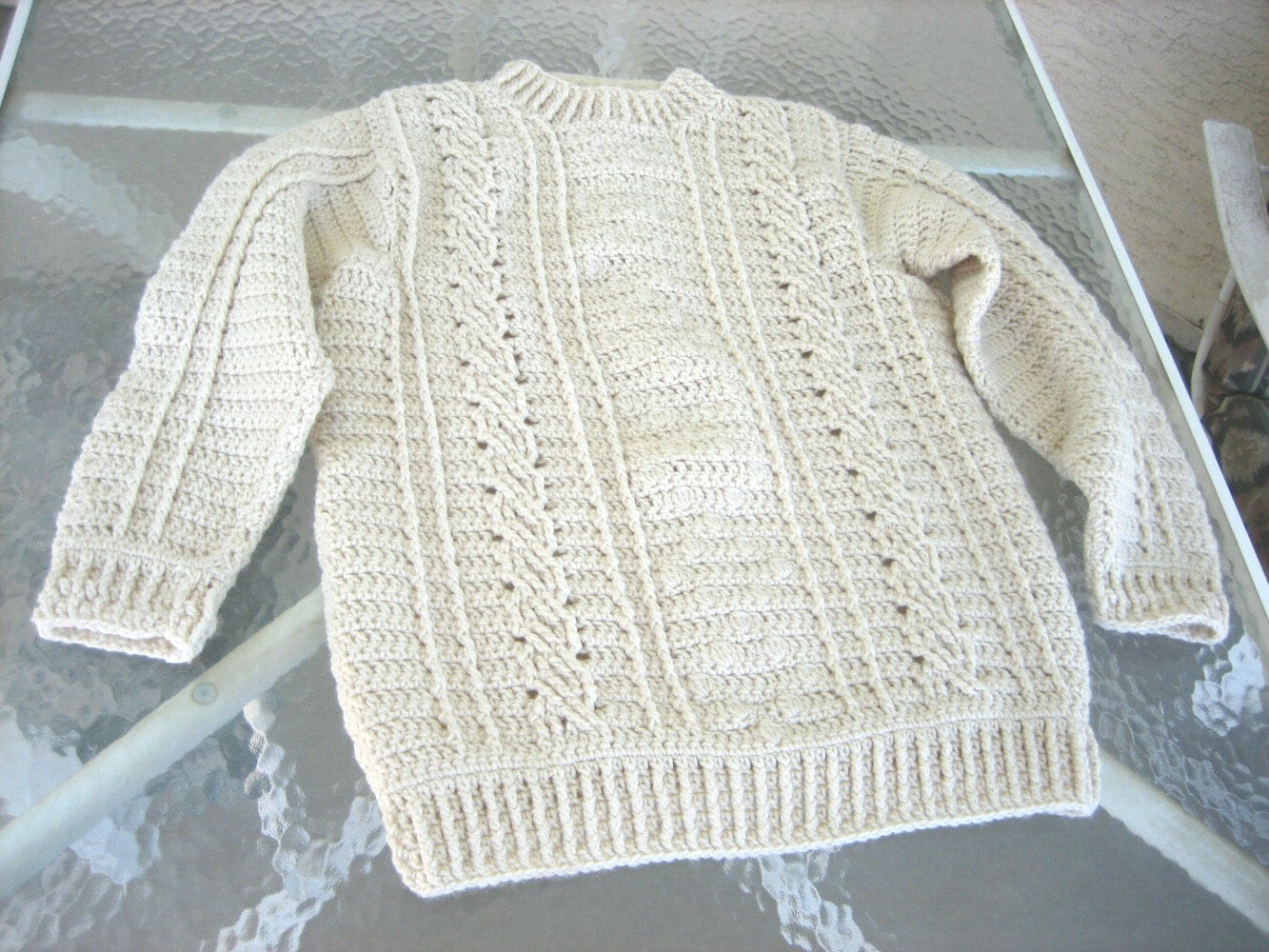 Fisherman Knit Sweater Pattern : Fisherman s Sweater Pattern   Design Patterns