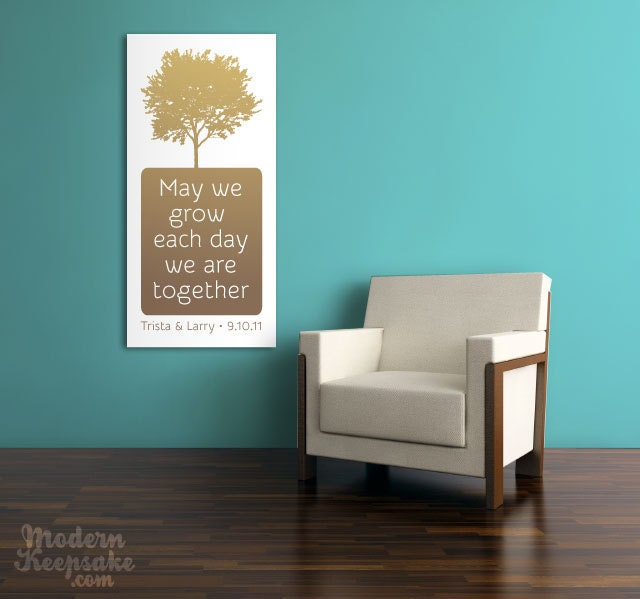 Personalized Wedding Tree Canvas Scroll Your Vows Newlywed Housewarming