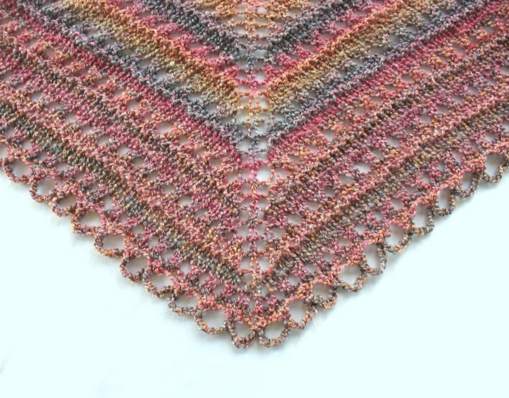 Simple Triangle Crochet Shawl Pattern : Free Easy Crochet Prayer Shawl Patterns images