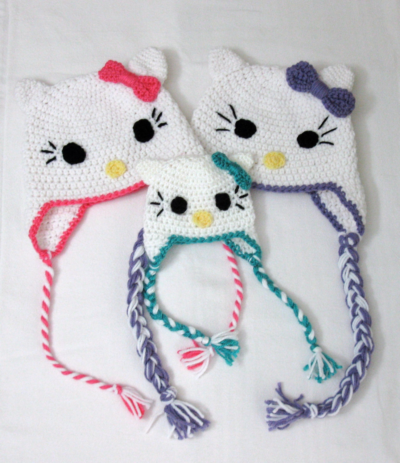 Crochet Kitty Hat Pattern : HELLO KITTY CROCHET PATTERN Crochet For Beginners