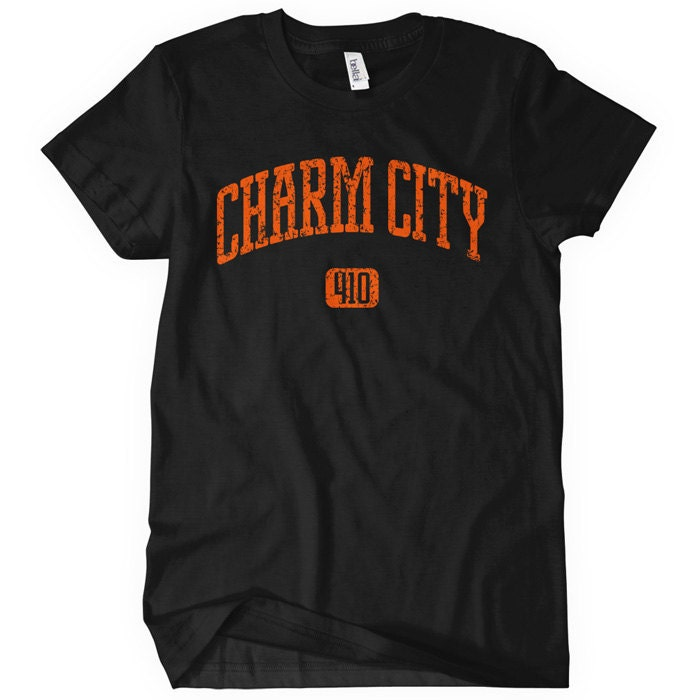 Charm City T Shirt from Etsy