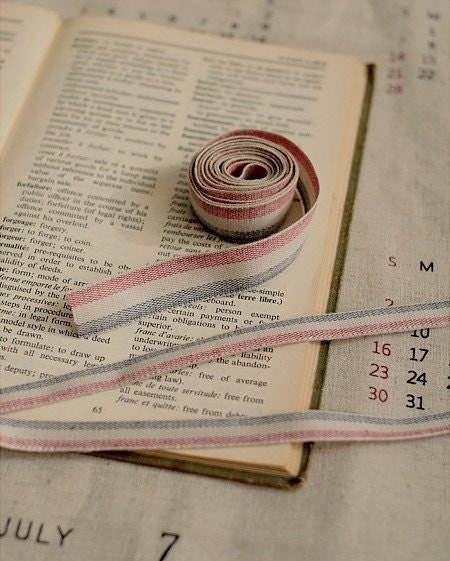 Vintage French Stripe Tape 15mm(2yd)