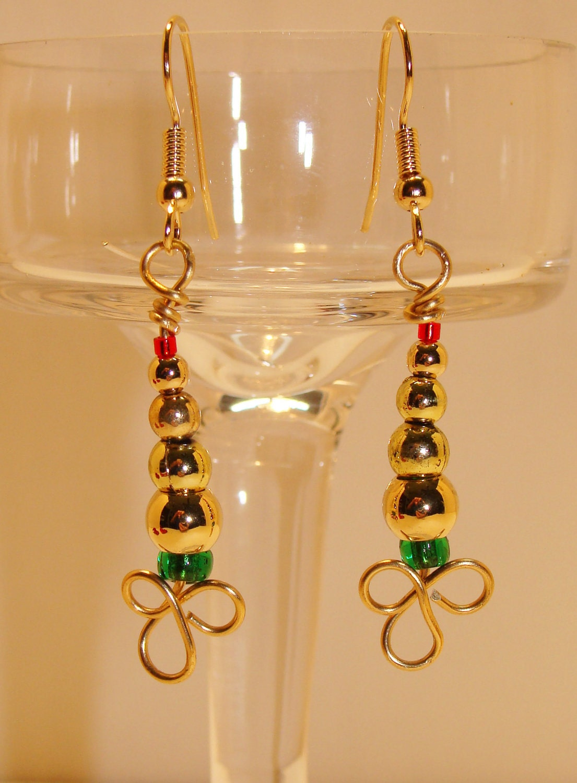 Handmade Cute Seed Beaded Earrings 1.2 Round