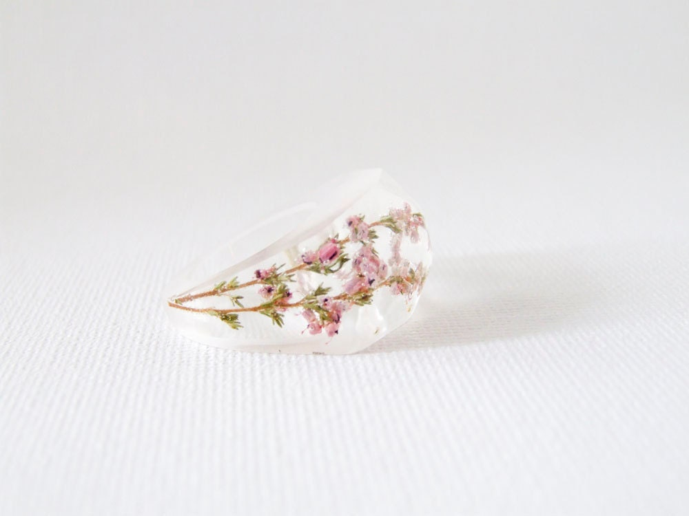Heather eco resin ring