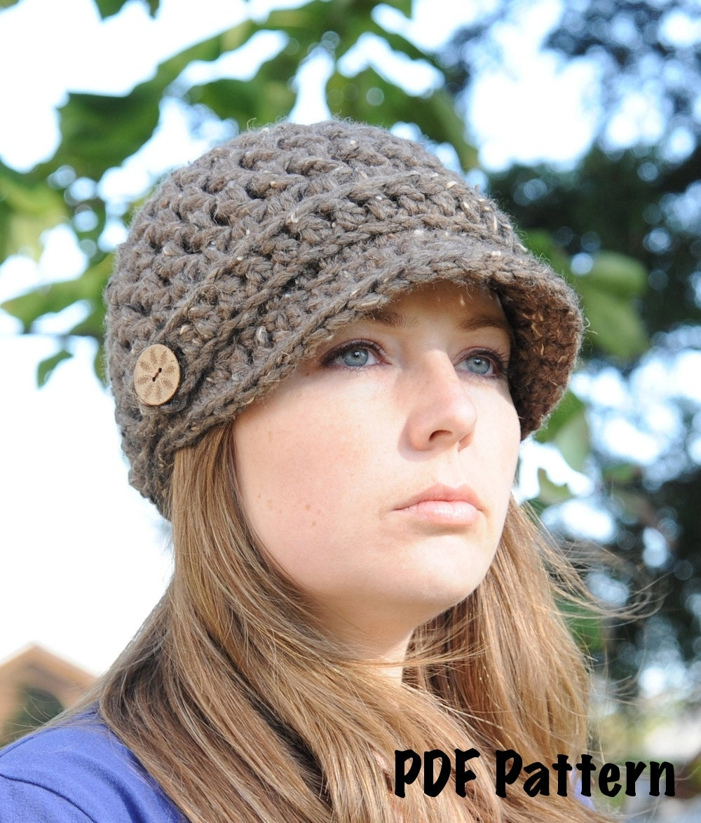 Free Crochet Hat Patterns : Free Pattern - Crochet Newsboy Slouchy Beanie Hat Facebook