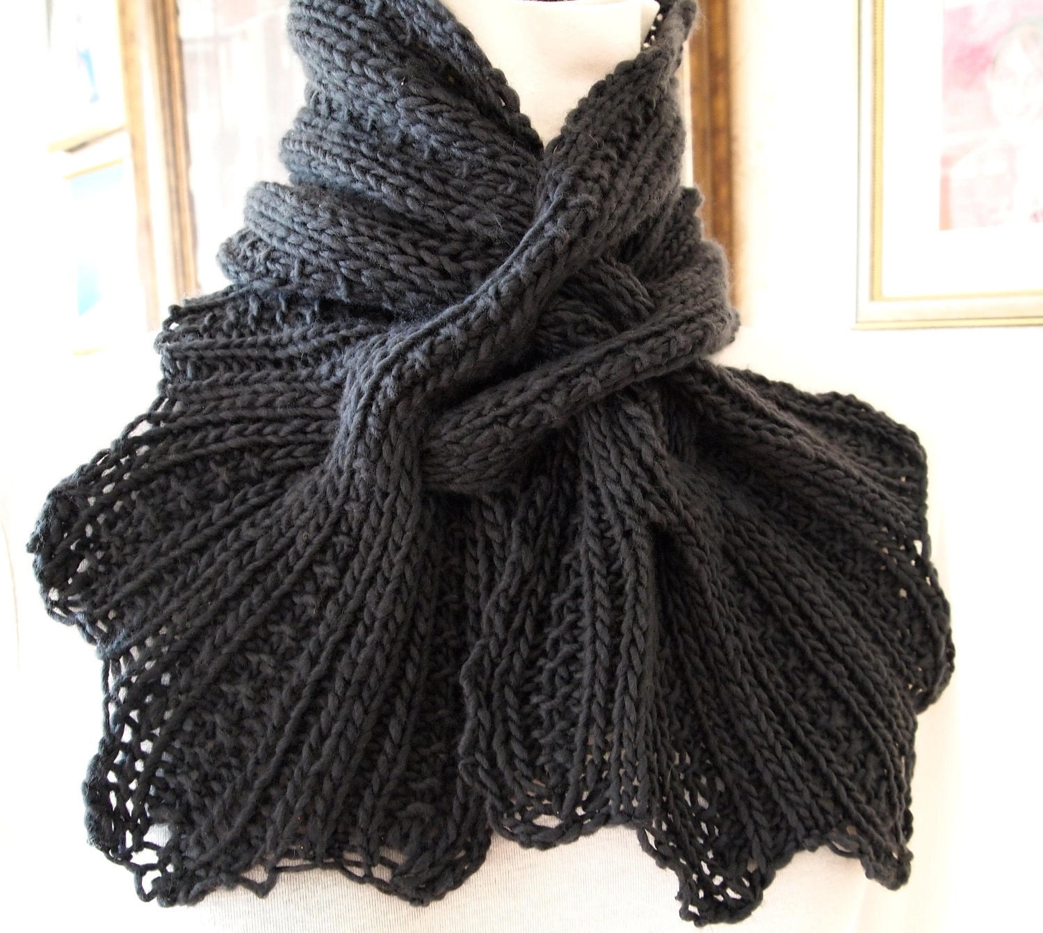 Knitting Patterns Scarf Free : HAND KNIT SCARF PATTERNS   Free Patterns
