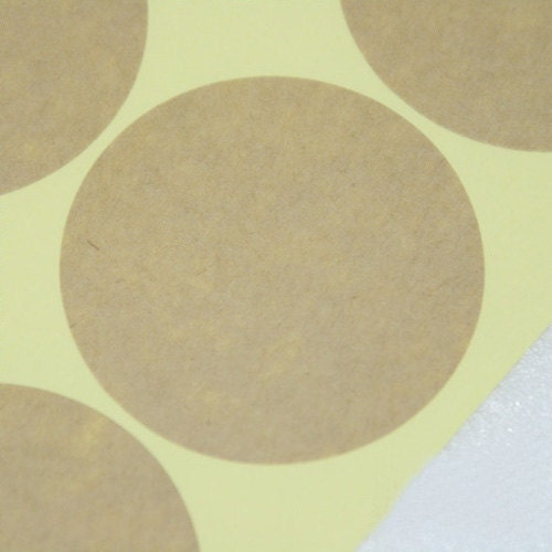 Natural Kraft Circle Sticker