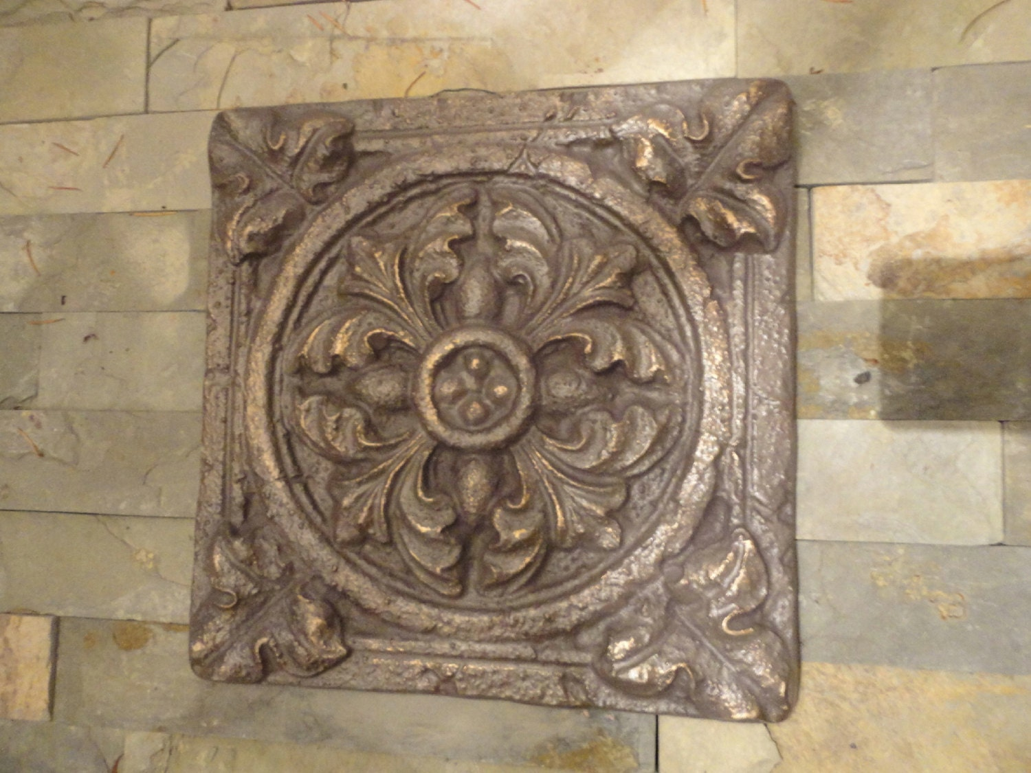 Exterior Wall Decoration Ideas: Tuscan Garden Wall Decor Indoor / Outdoor / Oil Rubbed Bronze