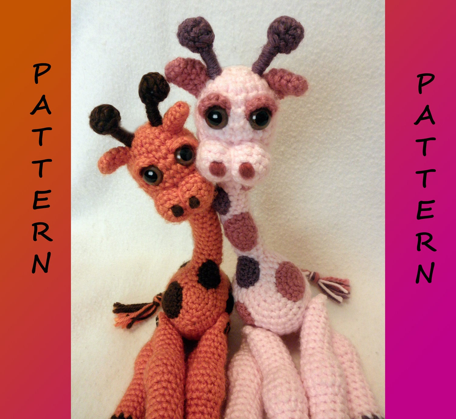 Giraffe Afghan  Pillow Pattern Pack