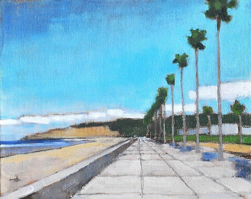 Palms along the beach in La Jolla California
