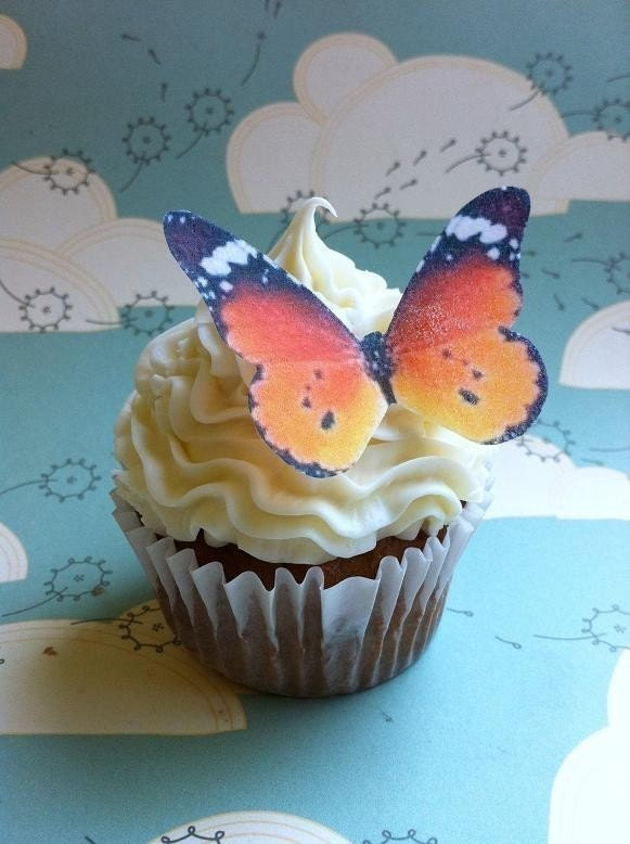 EDIBLE Butterflies The Original Wedding Cake Cupcake toppers Large
