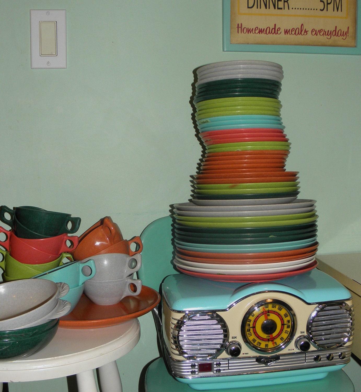 1950s Dishes: Vintage Plastic Melmac Dinnerware History Melamine : Color